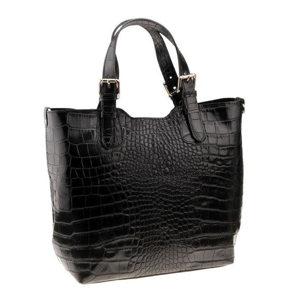 Čierna kožená kabelka Florence Cembro