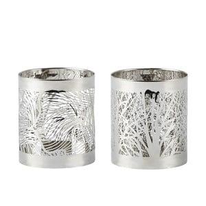 Sada 2 svietnikov KJ Collection Silver Stain, 7 cm