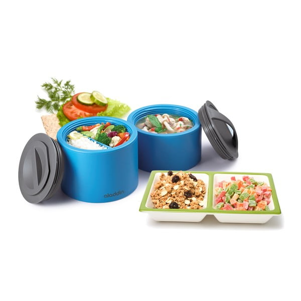 Termobox na desiatu Bento 600 ml, petrolejový