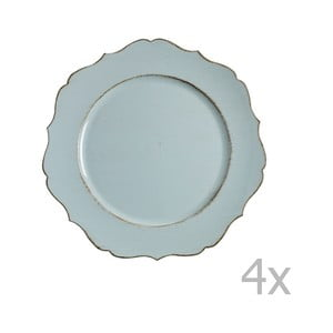 Sada 4 modrých tanierov Blasone