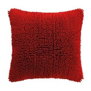Červený poťah na vankúš Tiseco Home Studio Shaggy, 45 × 45 cm