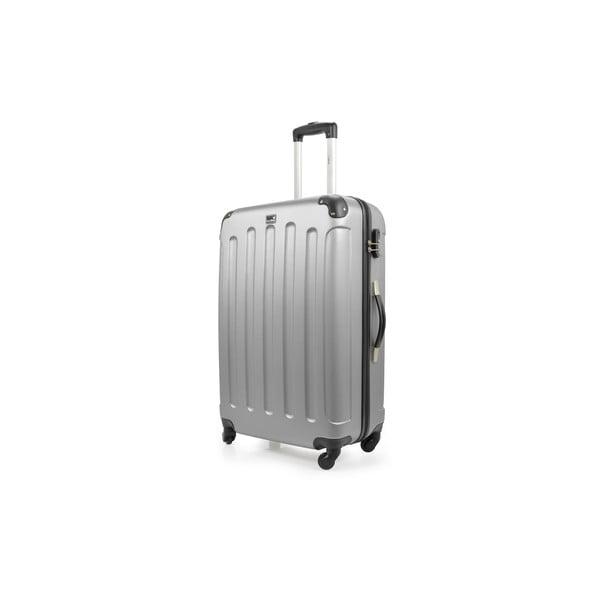Strieborný cestovný kufor nakolieskach Bluestar, 46 l