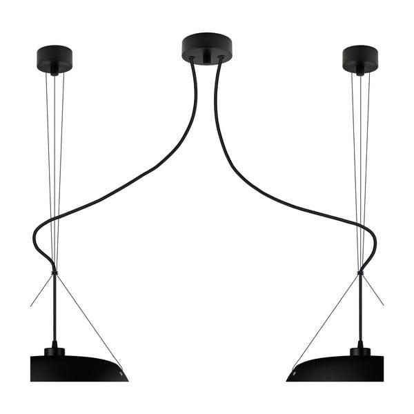 Čierne dvojité matné závesné svietidlo Sotto Luce MOMO