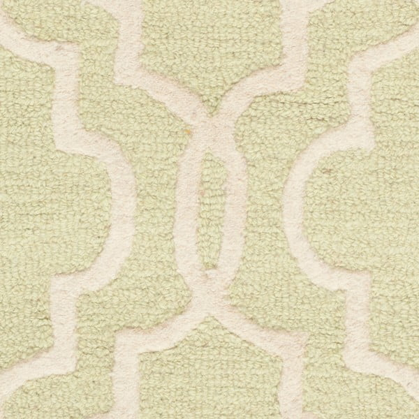 Svetlozelený vlnený koberec Safavieh Elle, 91 x 152 cm