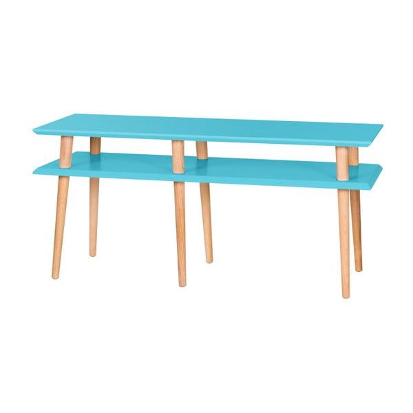 Tmavo yrkysový konferenčný stolík Ragaba Mugo,dĺžka119 cm