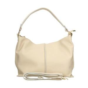 Svetlobéžová kožená kabelka Chicca Borse Hagoda