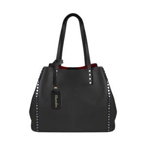 Čierna kožená kabelka Maison Bag Milú