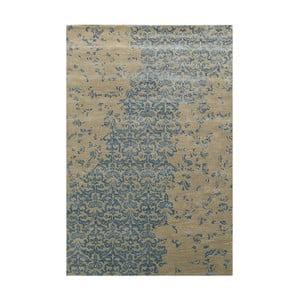 Ručne tuftovaný modrý koberec New Jersey, 122 x 183 cm