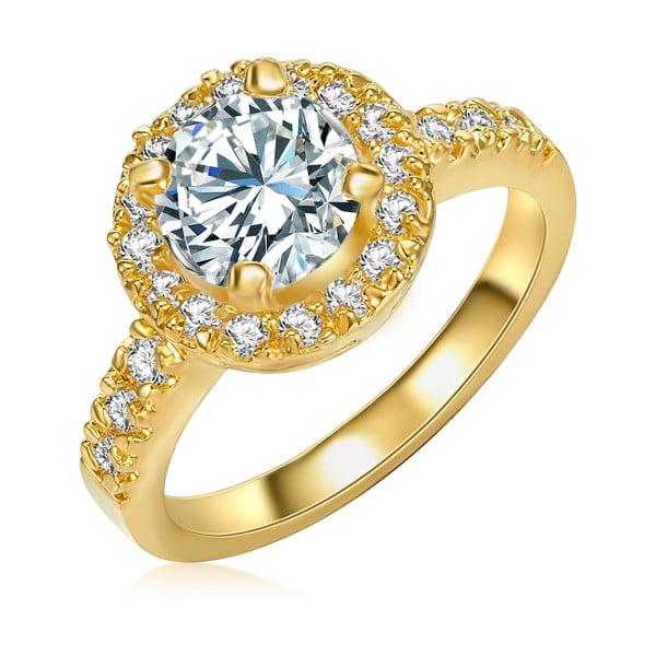 Dámsky prsteň zlatej farby Runaway Bride, 52