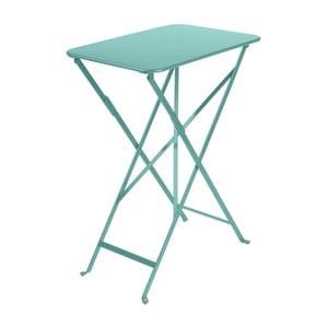 Modrý záhradný skladací stolík Fermob Bistro, 37×57 cm