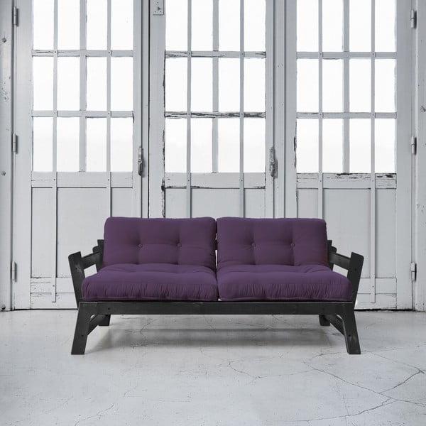 Rozkladacia pohovka Karup Step Black/Purple