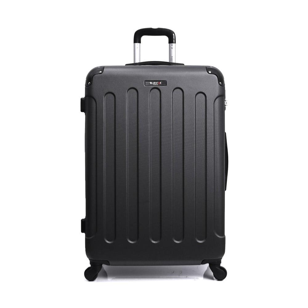 Čierny cestovný kufor na kolieskach Bluestar, 32 l