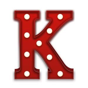Dekoratívne svetlo Carnival K, červené
