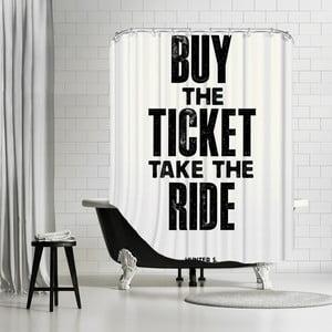 Kúpeľňový záves Buy The Ticket, 180x180 cm
