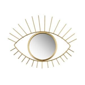 Zrkadlo v zlatej farbe v tvare oka Sass & Belle, 24 x 29,5 cm