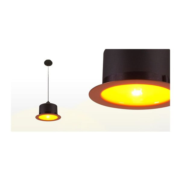 Stropné svetlo Hat Black/Orange