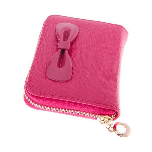 Dámska malá peňaženka Ladiest, tmavoružová