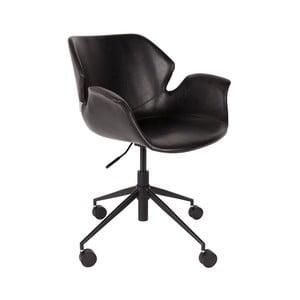 Čierna kancelárska stolička Zuiver Office Chair Nikki