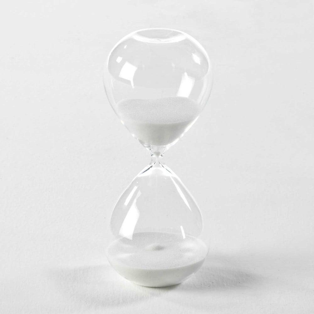 518b19aa0 Presýpacie hodiny s bielym pieskom Thai Natura, 9 × 18 cm