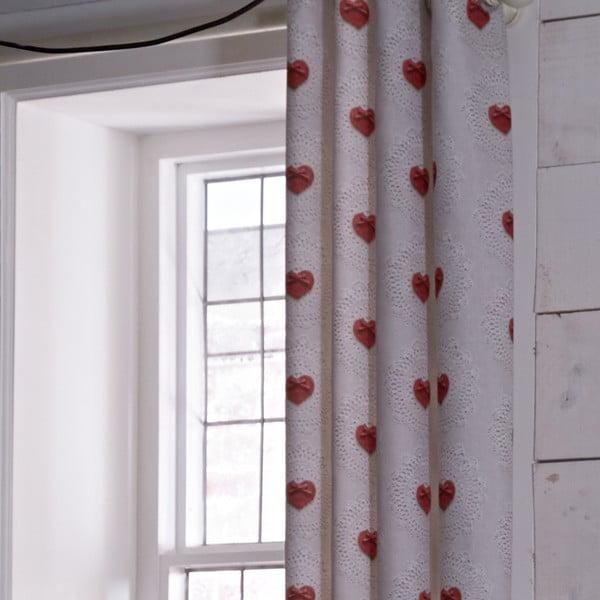 Záves Doily Hearts, 168x183 cm