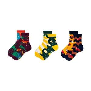 Sada 3 párov detských ponožiek v darčekovom balení Many Mornings Dino, veľ. 31–34