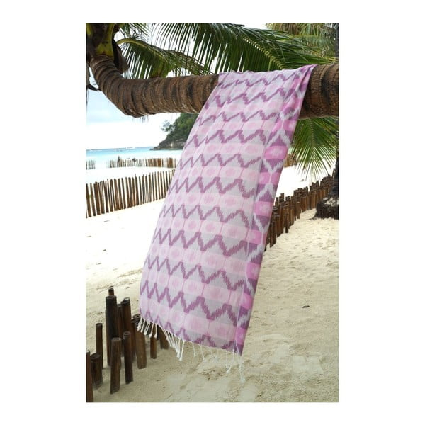 Hammam osuška Ripple Purple, 95x180 cm