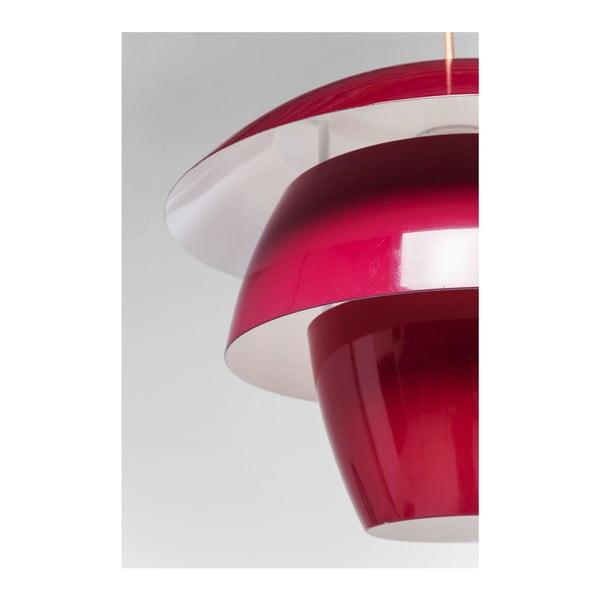 Červené stropné svietidlo Kare Design Flying Saucer