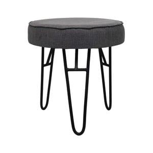Tmavosivá stolička s látkovým poťahom HSM Collection Kruk