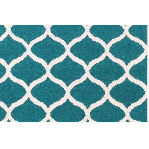Vlnený koberec Alize, 120x180 cm, modrý