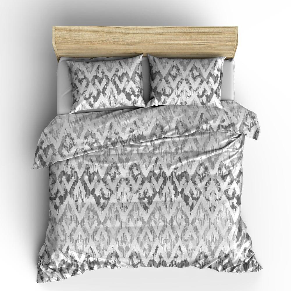 Sivá obliečka z bavlny Ambianzz, 200 x 160 cm