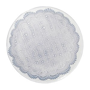 Modrý sklenený dezertný tanier Côté Table Tulle, 21cm