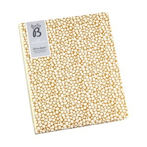 Zápisník A5 v zlatej farbe s priehradkou Busy B