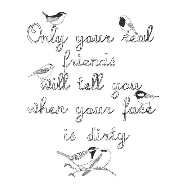 Plagát Real Friends, 30x40 cm
