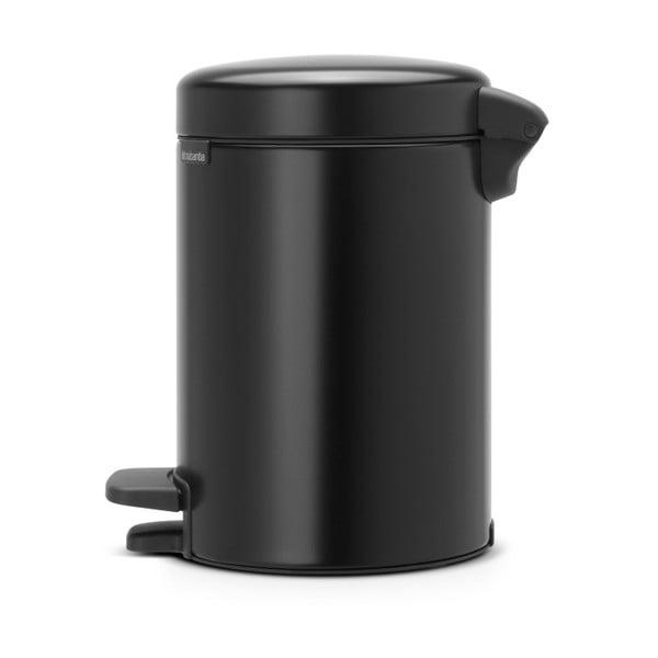 Čierny pedálový odpadkový kôš Brabantia Newicon, 3 l