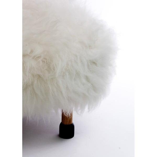 Stolička z ovčej kože Nia Ivory