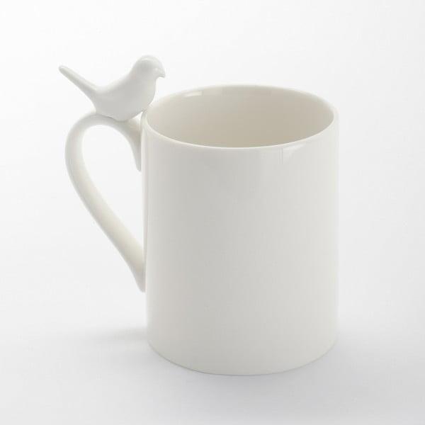 Porcelánový hrnček s vtáčikom ComingB
