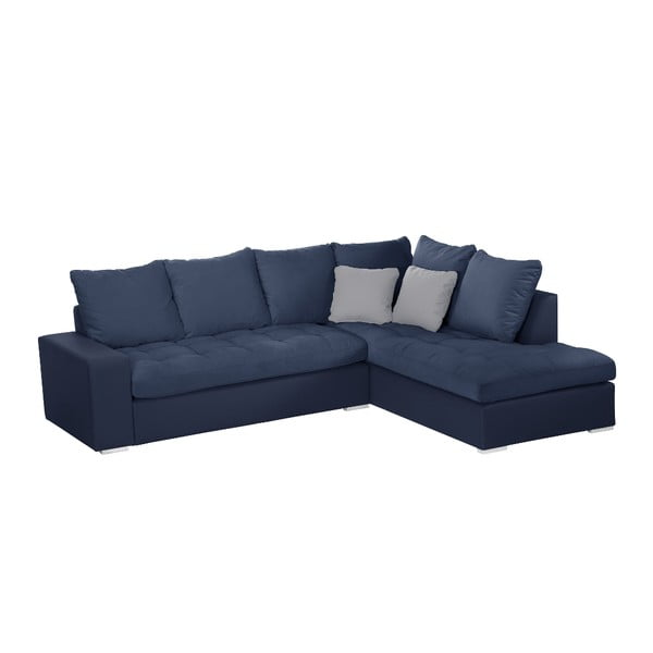Modrá pohovka Modernist Crinoline, pravý roh