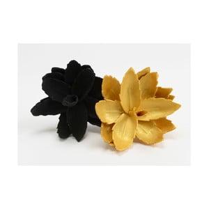 Sada 2 umelých kvetín Mini Black/Gold