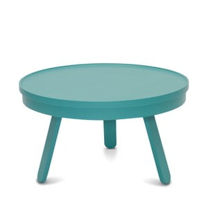 Zelený odkladací stolík z jaseňového dreva s úložným priestorom Woodendot Batea M