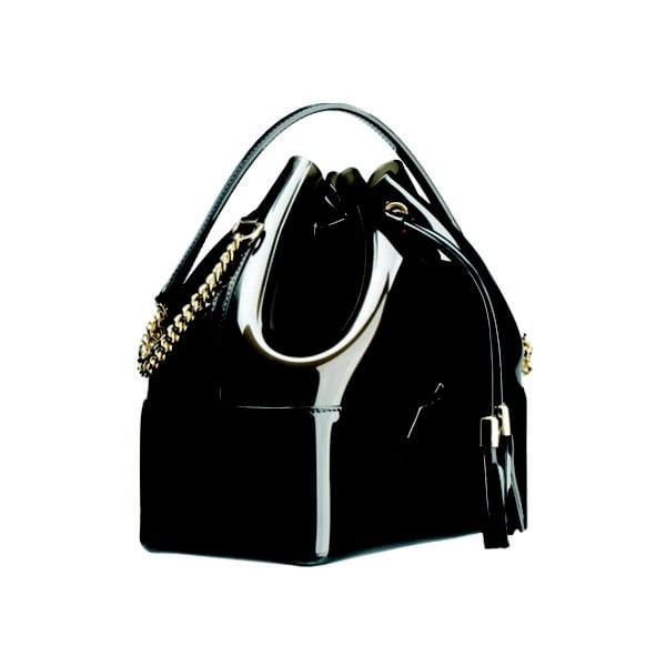 Čierno-sivá plastová kabelka Kartell Grace K