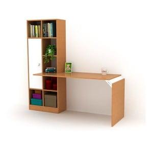 Pracovný stôl s knižnicou Opus