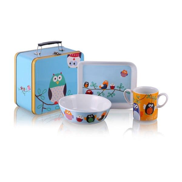 Raňajkový set v kufríku Owls