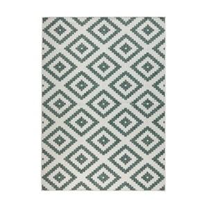 Zeleno-krémový vzorovaný obojstranný koberec Bougari Malta, 120×170 cm