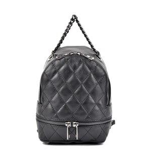 Čierny kožený dámsky batoh Roberta M Musillo
