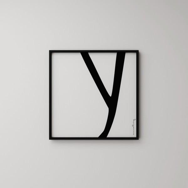 Plagát Litera Y, 50x50 cm