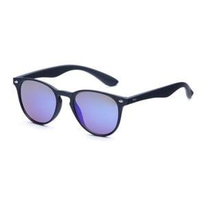 Slnečné okuliare s čiernym rámom a modrými sklami David LocCo Globetrotter Snazzy