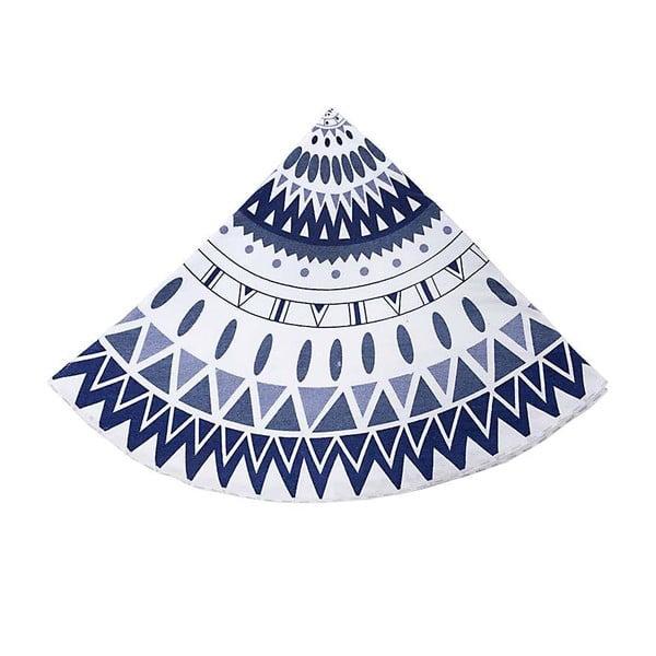Okrúhly plážový uterák Ble Blue