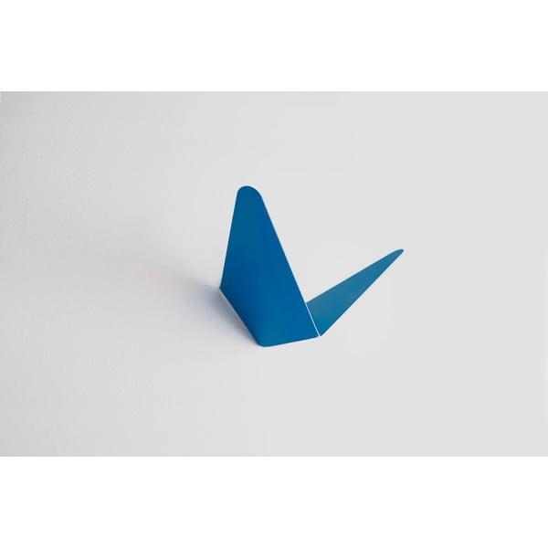 Vešiak s úložným priestorom Butterfly, modrý, 8,9x8,3 cm