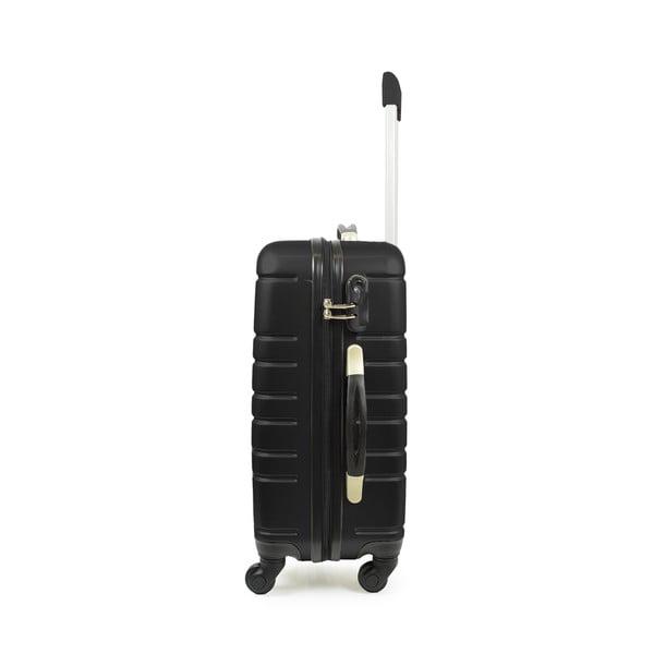 Čierny cestovný kufor s príručnou batožinou Blue Star Manhattan, 49 l