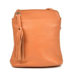 Koňakovohnedý dámsky kožený batoh Carla Ferreri Harro